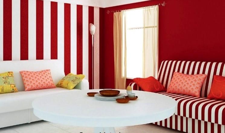 Warna Cat Ruang Tamu Bergaris
