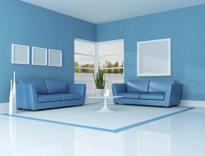 Warna Cat Ruang Tamu Biru Langit
