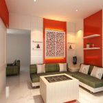 Warna Cat Ruang Tamu Dua Warna