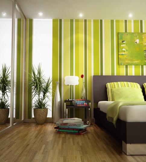 Warna Cat Ruang Tamu Garis Garis