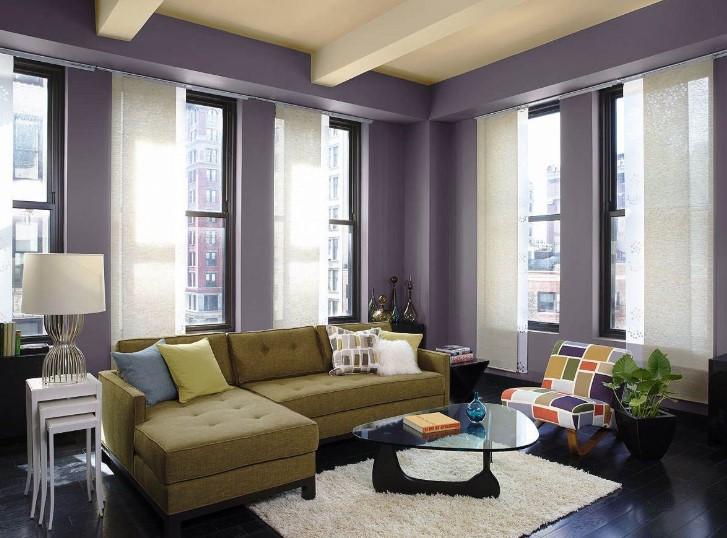 Warna Cat Ruang Tamu Kombinasi 2 Warna