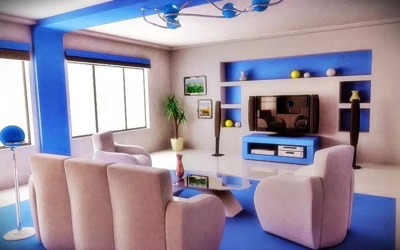 Warna Cat Ruang Tamu Minimalis 2 Warna