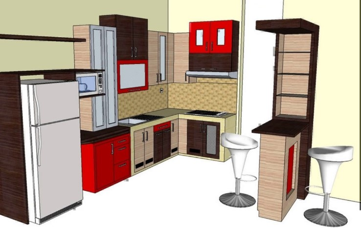 Contoh Desain Kitchen Set Mini Bar