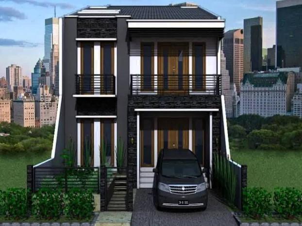 Denah Rumah Minimalis 2 Lantai 6x12 3d