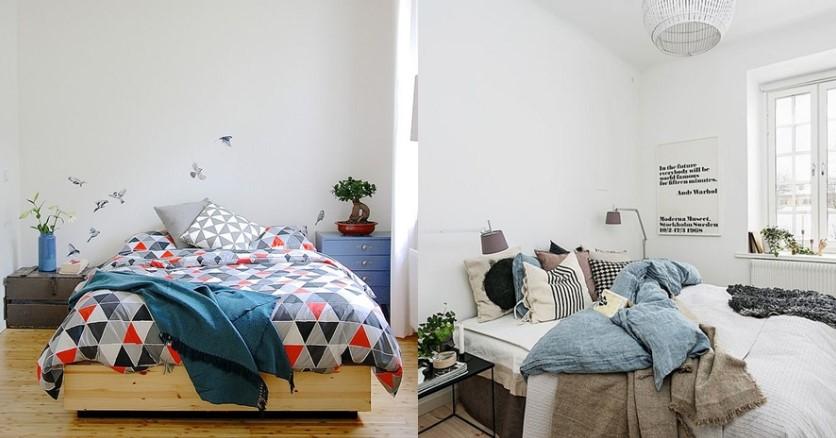 Desain Interior Kamar Tidur Gaya Skandinavia