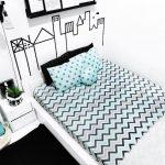 Desain Interior Kamar Tidur Hitam Putih