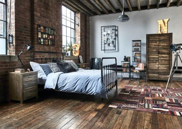 Desain Interior Kamar Tidur Industrial