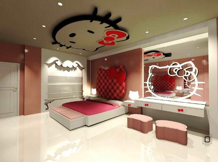 Desain Interior Kamar Tidur Lucu