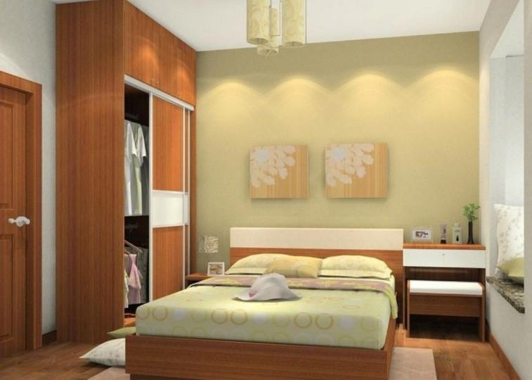 Desain Interior Kamar Tidur Sempit Sederhana