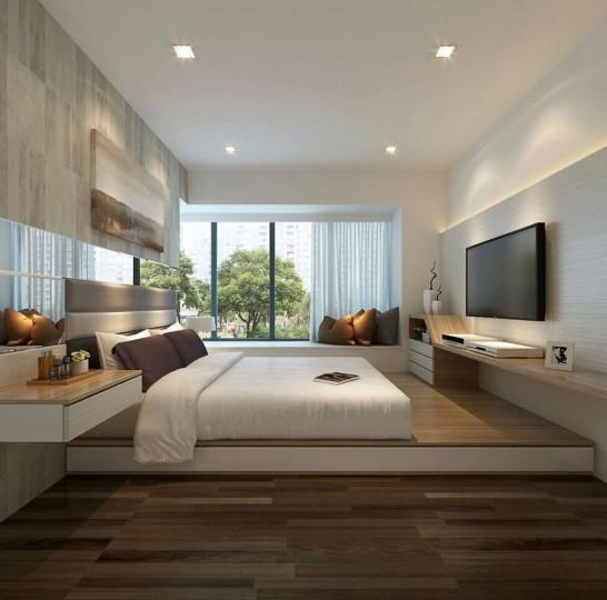 Desain Interior Kamar Tidur Ukuran 3×3 Minimalis 2019