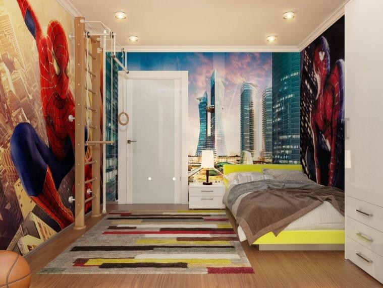 Desain Kamar Tidur Anak Spiderman