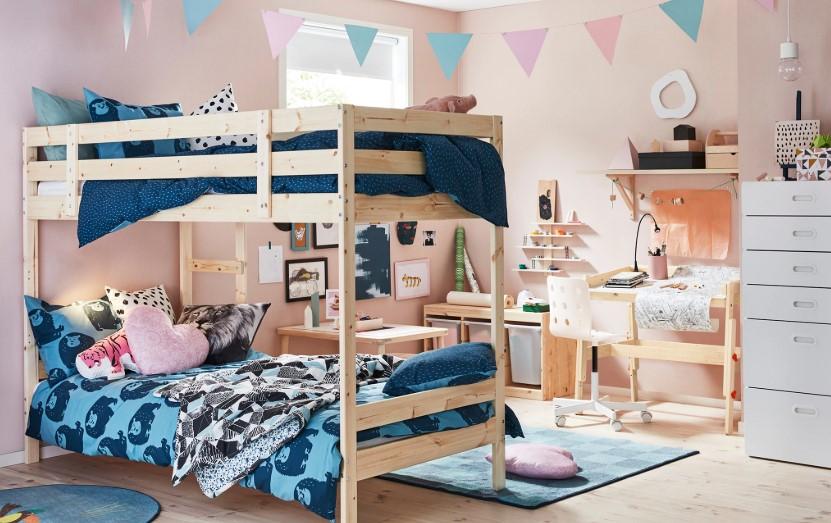 Desain Kamar Tidur Anak Warna Pastel