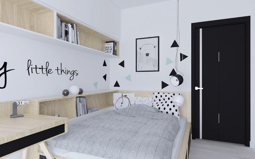 Desain Kamar Tidur Hitam Putih