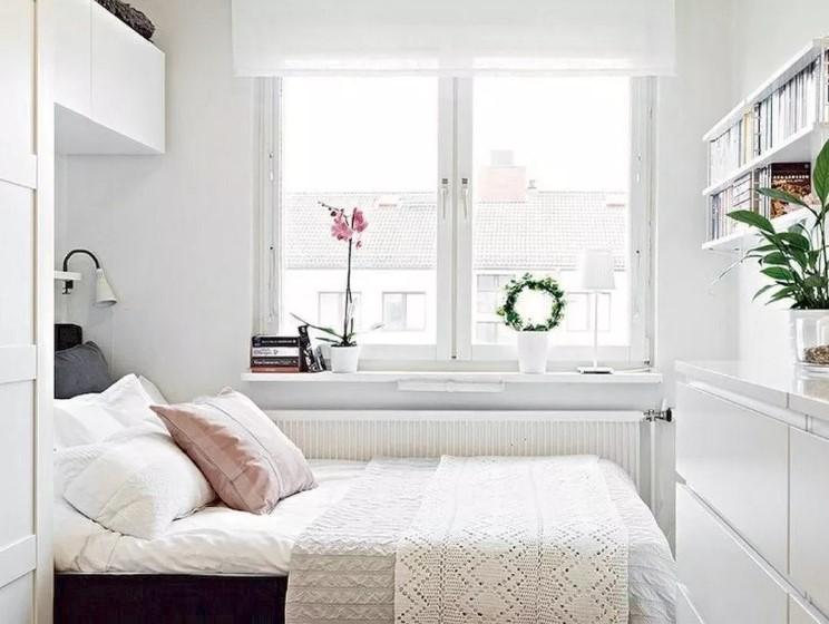 Desain Kamar Tidur Kecil Warna Dinding Terang