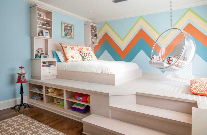 Desain Kamar Tidur Kecil dengan Dekorasi Dinding yang Menarik