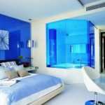 Desain Kamar Tidur Minimalis Biru