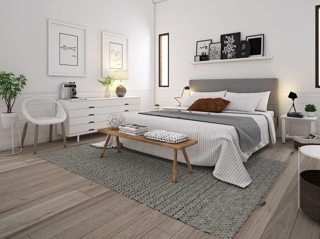 Desain Kamar Tidur Minimalis Skandinavia