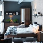 Desain Kamar Tidur Minimalis Warna Hitam