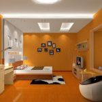 Desain Kamar Tidur Nuansa Orange