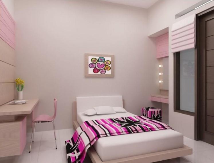 Desain Kamar Tidur Perempuan Sederhana