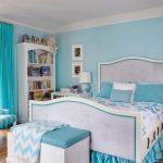 Desain Kamar Tidur Sederhana Nuansa Biru
