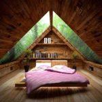 Desain Kamar Tidur Sederhana Rumah Kayu