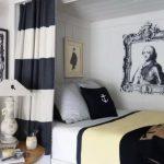 Desain Kamar Tidur Sempit Sederhana Warna Hitam