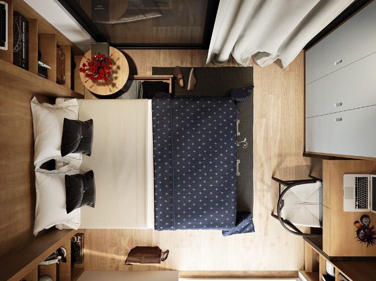 Desain Kamar Tidur Sempit Yang Unik