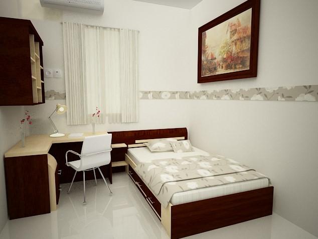 Desain Kamar Tidur Ukuran 3x3 Meter Sederhana