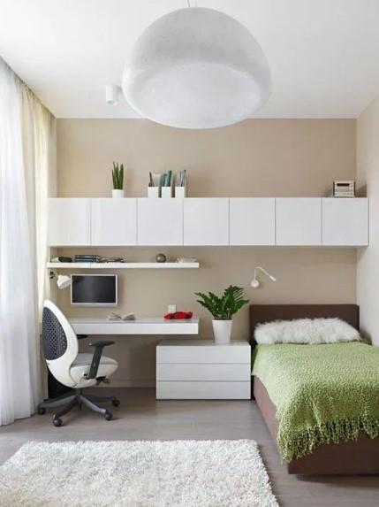 Desain Kamar Tidur Utama Ukuran 3×3 Sederhana