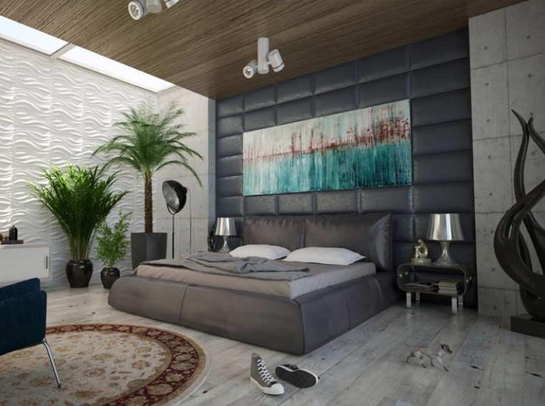 Desain Kamar Tidur Utama dengan Dekorasi Tanaman Hias