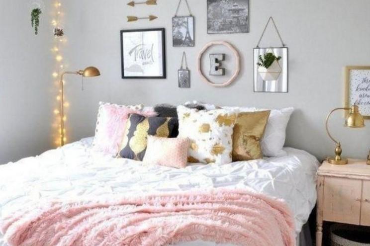 Desain Kamar Tidur Vintage Sederhana