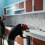 Desain Kitchen Set Aluminium Coklat