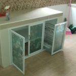 Desain Kitchen Set Aluminium Kaca
