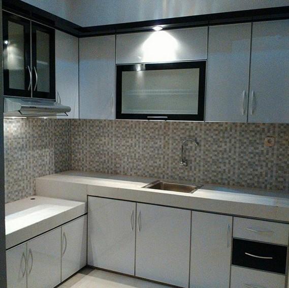 Desain Kitchen Set Aluminium Minimalis Modern