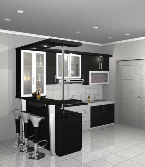 Desain Kitchen Set Aluminium Sederhana