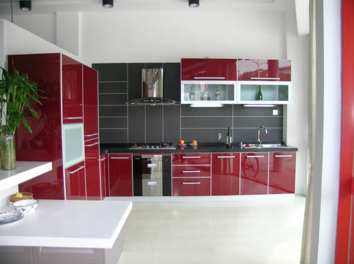 Desain Kitchen Set Aluminium Warna Coklat
