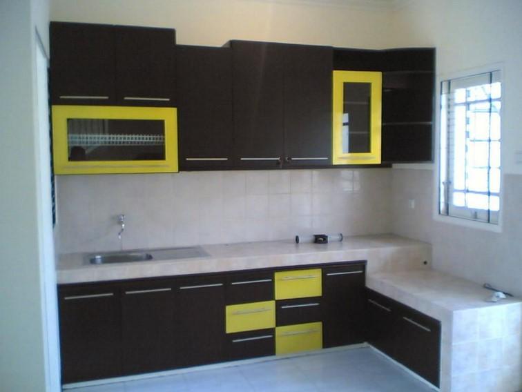 Desain Kitchen Set Bentuk L Minimalis