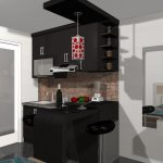 Desain Kitchen Set Cafe Minimalis