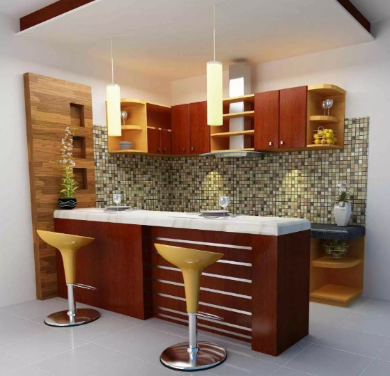Desain Kitchen Set Dan Mini Bar