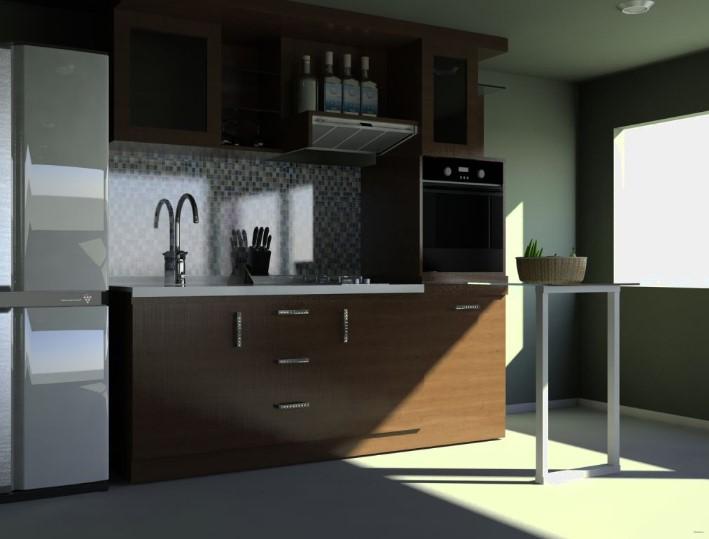 Desain Kitchen Set Jati Minimalis