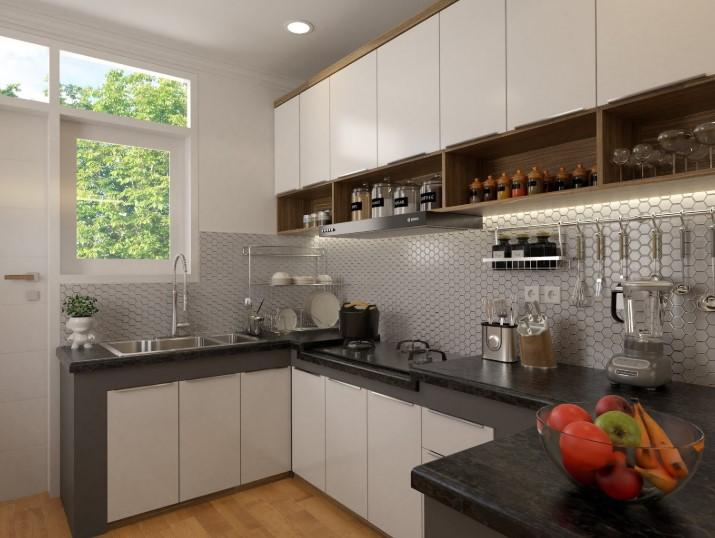 Desain Kitchen Set L Minimalis