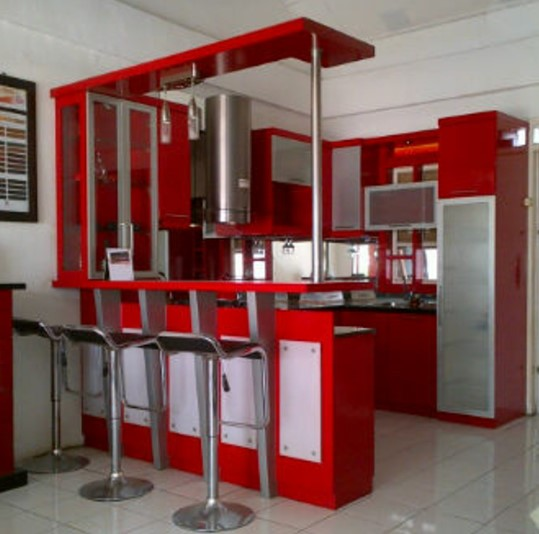 Desain Kitchen Set Mini Bar