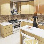 Desain Kitchen Set Dapur Minimalis Kayu Jati