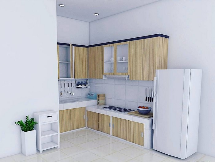 Desain Kitchen Set Minimalis Untuk Dapur Sempit