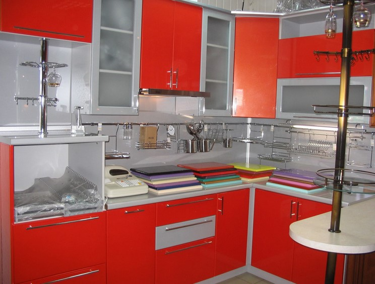 Desain Kitchen Set Minimalis Warna Merah