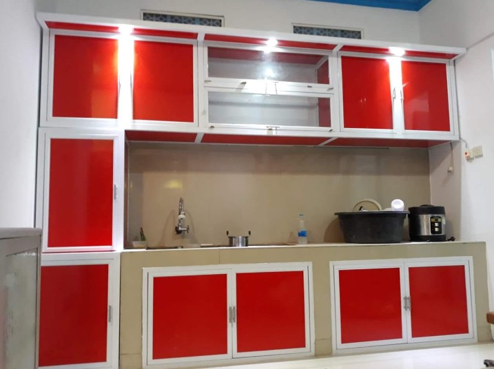 Desain Lemari Kitchen Set Aluminium