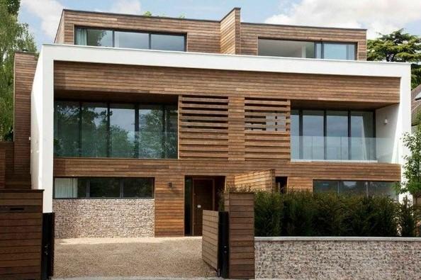 Desain Rumah Kayu Minimalis 2 Lantai 6x12
