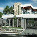 Desain Rumah Minimalis 2 Lantai 6x12 3d