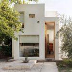 Desain Rumah Minimalis 2 Lantai 6x12 dengan Tone Warna Putih